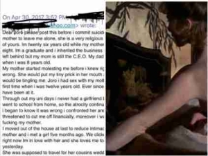 'I Slept With My Mother When I Was 12' – Nigerian Man Opens Up On Constant S3xual Abuse From Mum